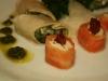 Rollitos de salmón con queso...