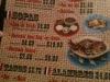 Menú: Entradas, Sopas, Tacos, Alambres...