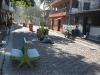 La calle peatonal de la periferia...