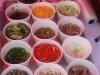 """Los add-ins del espagueti: Carne, pollo, camarón, pimientos, cebolla, hongos, aceitunas, brócoli, maíz, chipotle... @ """"Hierba Buena"""""""