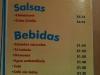 Menú: Salsas y Bebidas