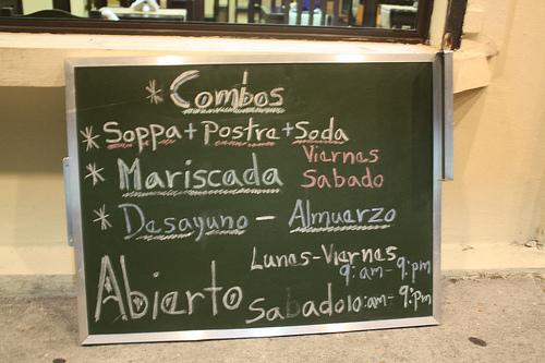 Soppas - Pizarra