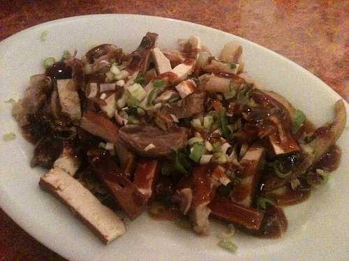 Menudos de Cerdo en Tofu Seco