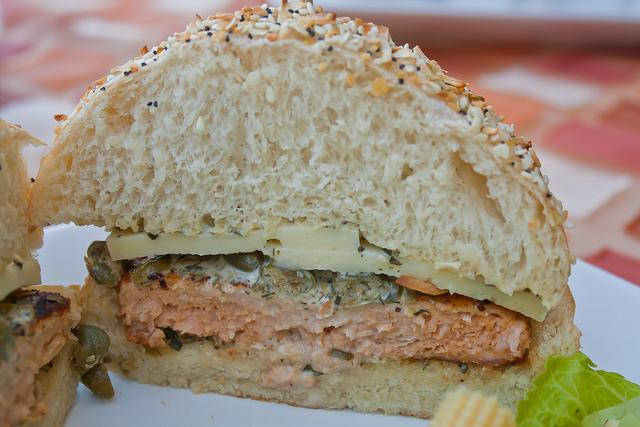 Hamburguesa de Salmón - Mitad
